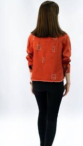 Czerwona kurtka Goodlookin.pl z bawełny krótka w stylu casual