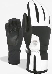 Czarne rękawiczki Level w sportowym stylu ze skóry