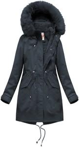 Granatowa kurtka Libland z bawełny
