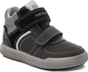Buty sportowe dziecięce Geox z zamszu na rzepy