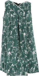 Zielona sukienka dziewczęca La Stupenderia z bawełny