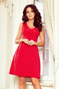 6241f9682a Sukienka NUMOCO z dekoltem w kształcie litery v z bawełny bez rękawów