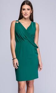 Zielona sukienka Semper midi z dekoltem w kształcie litery v