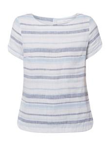 Bluzka Christian Berg Women z lnu w stylu casual z krótkim rękawem