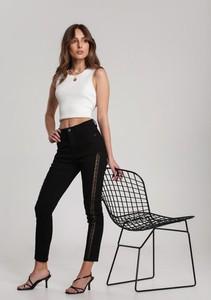 Czarne spodnie Renee w stylu casual