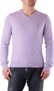 Fioletowy sweter Conte of Florence w stylu casual z wełny