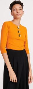 Żółta bluzka Reserved w stylu casual