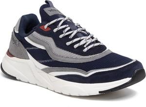 Granatowe buty sportowe eobuwie.pl sznurowane