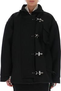 Czarna kurtka Off White w stylu casual krótka