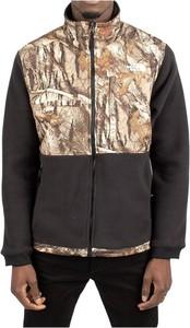 Brązowa bluza The North Face w młodzieżowym stylu z nadrukiem