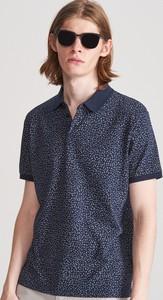 Granatowa koszulka polo Reserved w stylu casual