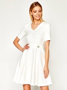 Sukienka Trussardi Jeans mini z krótkim rękawem w stylu casual