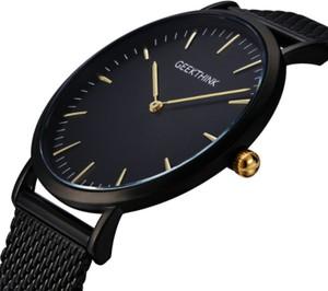 Czarny zegarek malloom zegarki kwarcowe