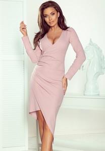 Różowa sukienka Merg asymetryczna