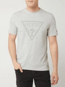 T-shirt Guess w młodzieżowym stylu z nadrukiem