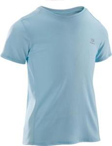 Niebieska koszulka dziecięca Kalenji z krótkim rękawem