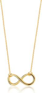Caviallo Srebrny naszyjnik Infinity, pozłacany 24k złotem