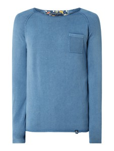 Niebieski sweter Colours & Sons w stylu casual