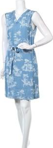 Niebieska sukienka S.Oliver mini bez rękawów