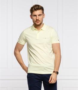 Żółta koszulka polo Tommy Hilfiger z bawełny