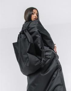 Czarny plecak REST FACTORY z tkaniny
