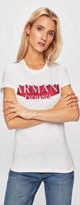 T-shirt Armani Jeans z okrągłym dekoltem z krótkim rękawem