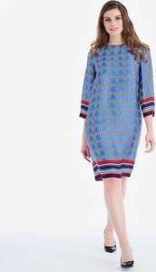Niebieska sukienka POTIS & VERSO z długim rękawem