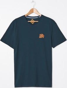 Granatowy t-shirt House