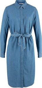 01372348ea Sukienka bonprix John Baner JEANSWEAR w stylu casual z kołnierzykiem mini