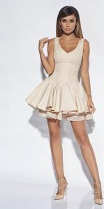 Sukienka Lou Women`s Fashion bez rękawów rozkloszowana mini