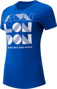 Niebieska bluzka New Balance z bawełny
