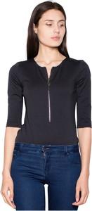 Czarna bluzka Venaton w stylu casual