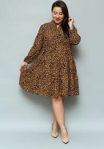 Sukienka KARKO z długim rękawem z tkaniny oversize