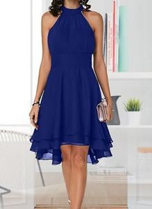 Niebieska sukienka Cikelly mini dopasowana