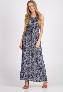 Niebieska sukienka QUIOSQUE maxi