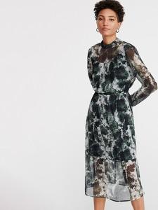 Sukienka Reserved w stylu casual midi z golfem
