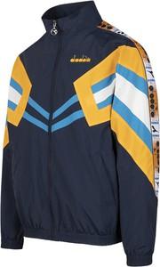 Niebieska kurtka Diadora w geometryczne wzory