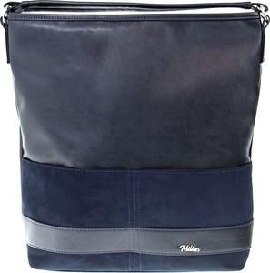 Granatowa torebka Milton w stylu casual na ramię duża
