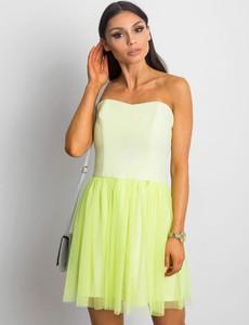 Zielona sukienka Sheandher.pl gorsetowa mini bez rękawów