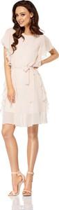 Różowa sukienka Lemoniade mini rozkloszowana