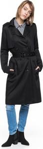 Czarny płaszcz Tom Tailor w stylu casual ze skóry ekologicznej