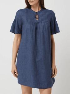 Niebieska sukienka S.Oliver z lnu mini