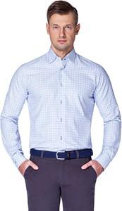 Koszula LANCERTO z tkaniny z klasycznym kołnierzykiem z długim rękawem