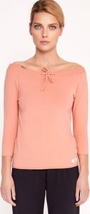 Różowa bluzka Byinsomnia z bawełny