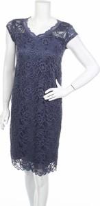 Niebieska sukienka Mama Licious mini z dekoltem w kształcie litery v prosta