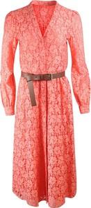 Sukienka Michael Kors w stylu casual z jedwabiu z kołnierzykiem