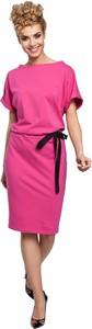 Różowa sukienka MOE ołówkowa