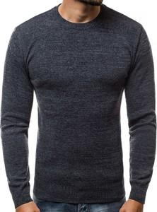 Niebieski sweter Ozonee.pl z wełny