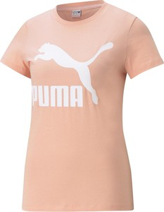 Różowa bluzka Puma z okrągłym dekoltem