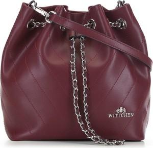 Czerwona torebka Wittchen średnia w wakacyjnym stylu na ramię